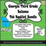 Georgia Third Grade Science Tab Booklet Bundle (Meets New GSE's)