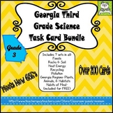 Georgia Third Grade Science Task Card Bundle (Meets New GSE's)