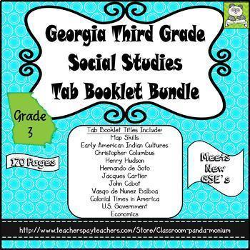 Georgia Third Grade Social Studies Tab Booklet Bundle (Meets New GSE's)