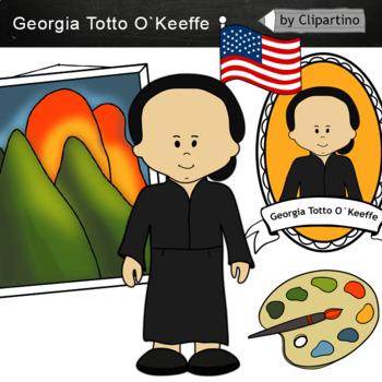 Georgia Totto O`Keeffe clipart - Artists Clip Art