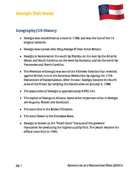 Georgia Unit Study (U.S. States series)