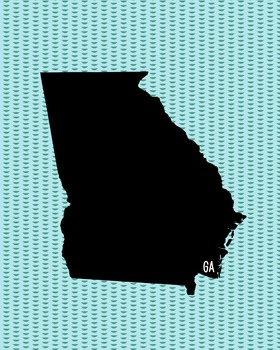 FREEBIE! Georgia Vintage State Map or Poster Class Decor,