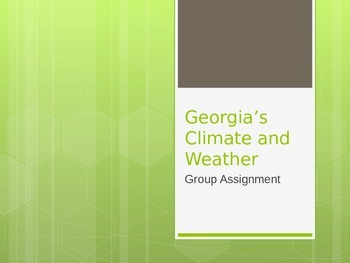 Georgia Weather Climate Activity
