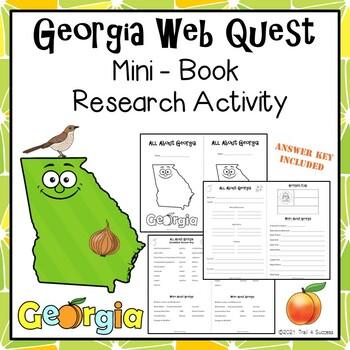 Georgia Webquest Common Core Research Mini Book