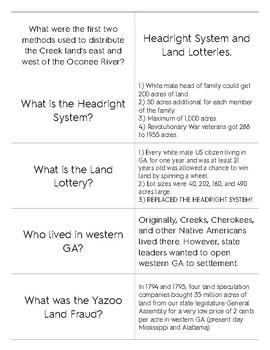 Georgia Westward Expansion Quizlet Flashcards