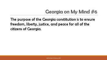 Georgia on My Mind: Daily Bellringer Facts for 8th Grade Georgia Studies