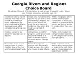 Georgia rivers and regions choice board