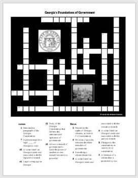 Georgia's Foundations of Government Crossword