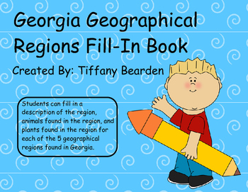 Georgia's Geographical Regions Fill-In Book