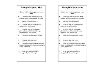 Georgia's Geography Map Performance Task