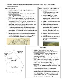 Georgia's Geography Standard One