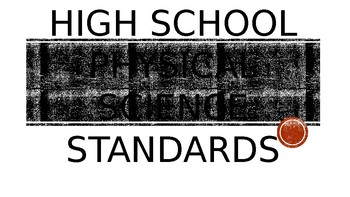 Georgia's High School Physical Science Standards