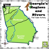 Georgia's Regions and Rivers File Folder Activity (Meets New GSE's)