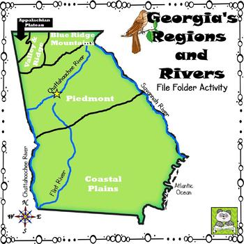 Georgia's Regions and Rivers File Folder Activity