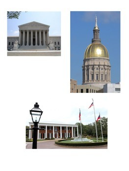 Georgia's Three Branches of Government/Checks and Balances Sorting Cards