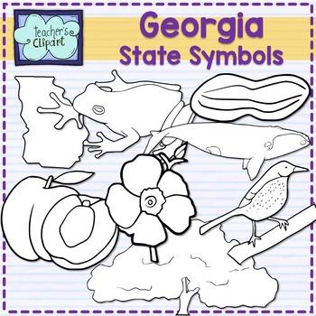Georgia state symbols clipart