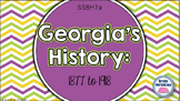 Georgia Studies: Changes from 1877 to 1918