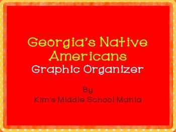 Georgia History Native Americans Graphic Organizer