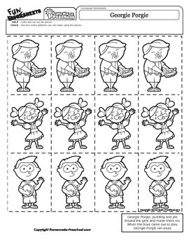 Georgie Porgie - Nursery Rhyme Activity