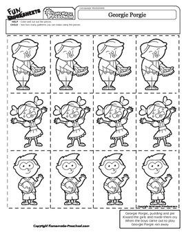 Georgie Porgie - Nursery Rhyme Activity