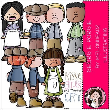 Melonheadz: Georgie Porgie clip art - COMBO PACK