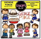 Georgie Porgie Nursery Rhyme Clip Art Bundle {Educlips Clipart}