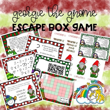 Georgie the Gnome Holiday Escape Box GAME ONLY