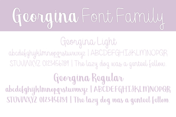 Georgina Font Family for Commercial Use