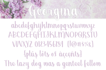 Georgina Font for Commercial Use