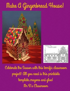 Gorgeous 3-D Gingerbread House Printable! In Spanish & English. Christmas Fun!