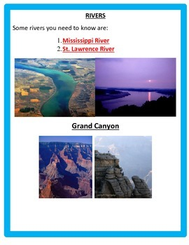 Georgraphy  (Landforms) PowerPoints and Notes 4th Grade SS