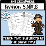 Geosphere Activity Division with Two Digit Divisors 5th Grade Worksheets