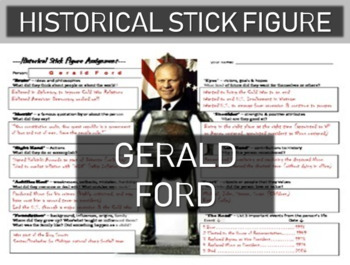 Gerald Ford Historical Stick Figure (Mini-biography)