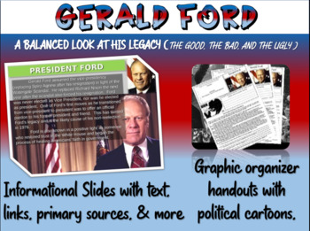 Gerald Ford: quotes, cartoons, foreign/domestic legacy PPT