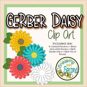#SummerSale Gerber Daisy Clip Art