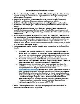 Gerkhania Constitution Writing Simulation