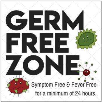 Germ Free Zone Sign