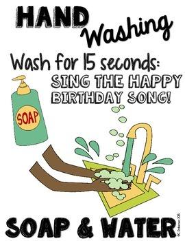 Hand Washing Germ Freebie
