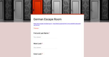 German 1 Digital Escape Room
