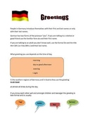 German 1: Greetings
