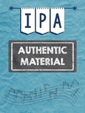 German 1 IPA - Music AUTHENTIC MATERIAL