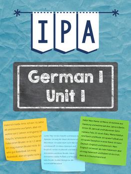 German 1 Unit 1 IPA - Language Course in Berlin