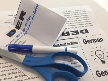 German 3 Genders - Foldable Mini Booklet