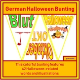 German: 42 flags for Halloween bunting