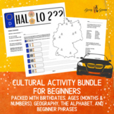 German Alphabet, Numbers, Geography and First Phrases