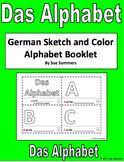 German Alphabet Sketch and Color Booklet