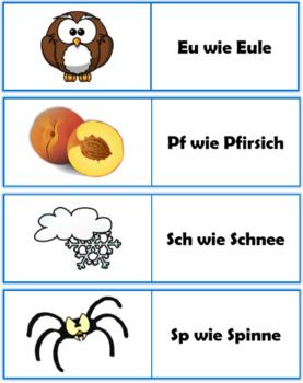 German (Deutsch) - Alphabet With Pictures - PowerPoint + Flashcards