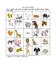 German Animal Picture Bingo and Hidden Words Puzzle