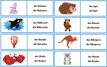 German Animal Flashcards Bundle - 102 flashcards