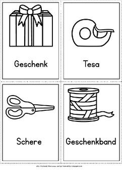 German- Arbeitsblätter und Wortkarten zu Anleitungen schreiben